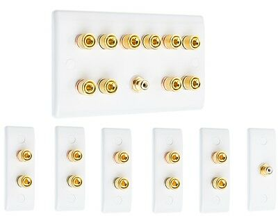 Complete 5.1 Slim Surround Sound Speaker Wall Face Plate Kit