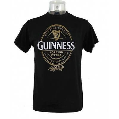 Guinness Mens English Label T-Shirt Clothing T Shirt Various Sizes Available New