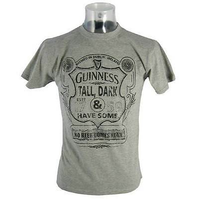 Guinness Mens Grey Tall Dark Have Some T-Shirt Clothing T Shirt Various Sizes