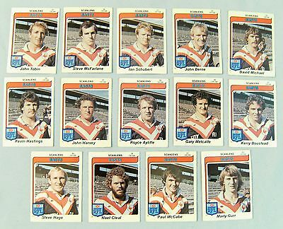 1980  Eastern Suburbs Roosters  Rugby League Cards