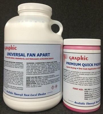 Fan Apart Glue For Carbonless Papers 1 Gal. Plus 1 Quart Red Padding Compound
