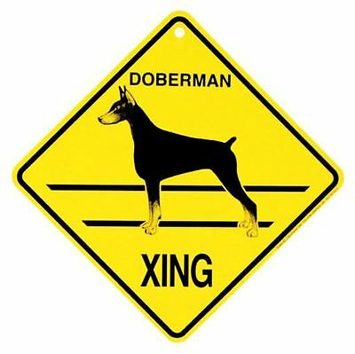 Doberman Xing Sign Dog Crossing NEW cropped ears