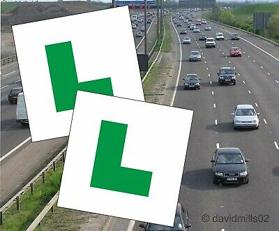 Learner Driver Magnetic Green L Plates 100% magnet grip