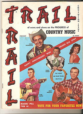 Trail Of News & Views On The Progress Of Country Music Magazine VOL1 No 1 1958