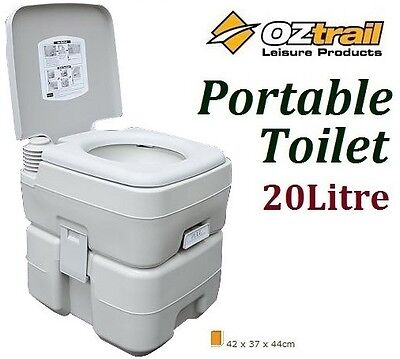 Oztrail 20 Litre Portable Toilet Flush Toilet Camp Camping Outdoor Toilet 20L