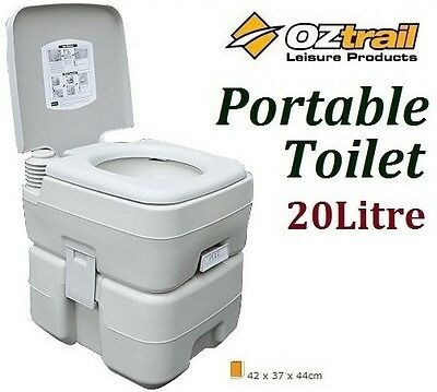 Oztrail Portable (20 Litre) Flush Camp Camping Outdoor Toilet *brand New*