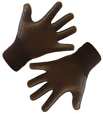 Entry level wetsuit gloves, titanium 3mm neoprene,grippy warm stretchy XS to XL