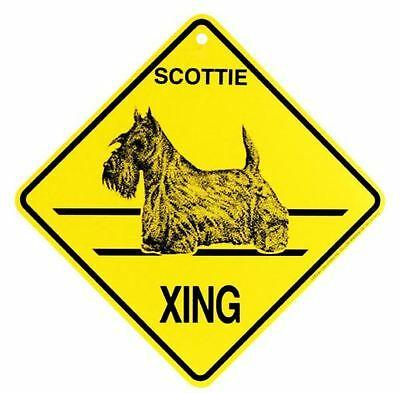 Scottie Xing Sign Dog Crossing NEW