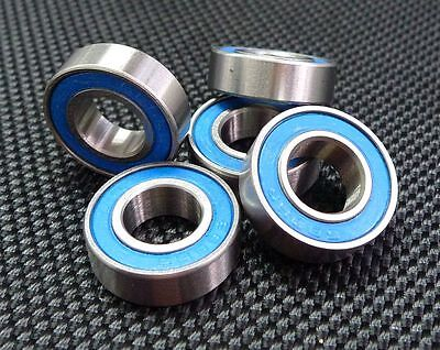 (25 PCS) (8x16x5 mm) Rubber Sealed Ball Bearing (Blue) For TAMIYA TRAXXAS HPI