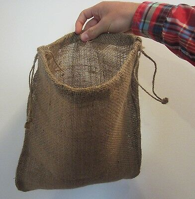 "One Burlap Bag  12"" X 14"" With Drawstring  Sack Gunny Feed Bag Tow Sack Gift"