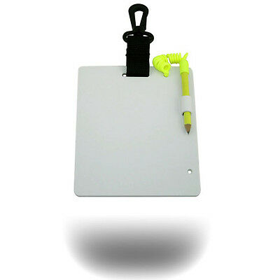 """Scuba Dive Underwater Notes Writing Slate with Pencil Gear 5"""" * 6"""" Bath Shower"""