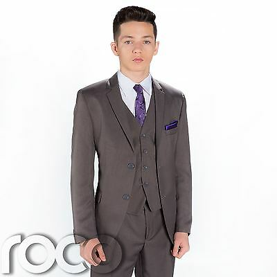 Boys Wedding Suit In Grey, Page Boy Suits, Prom Suits