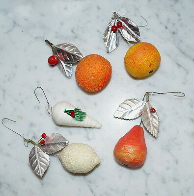 Mixed Lot of rare Cotton Fruits - Christmas Ornaments  -  1900 / 1920  (# 1712)