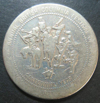 1971 2nd Annual British Columbia Festival of Sports One Dollar trade token!