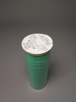 (2) 500yd Rolls Gudebrod BMS1354GBT1C1FC5 Green Polyester Lacing Tape NEW