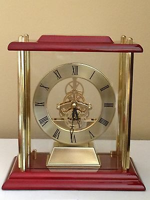 Large Gold Mantle or Shelf Clock With Skelton Movement Engraved Free, New In Box