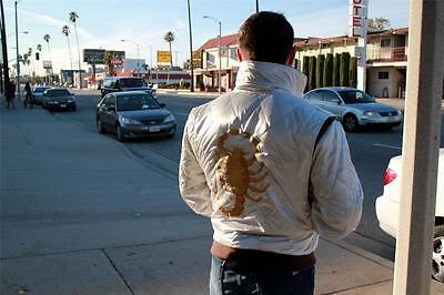 DRIVE Embroidered Scorpion Gosling Satin Jacket - Men's