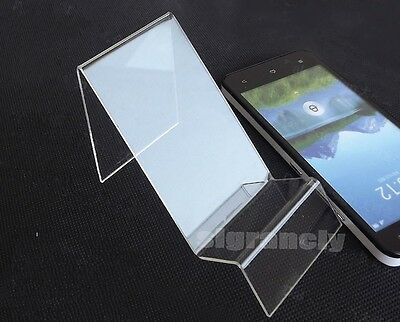 Lot 10 Clear Show Rack Display Holder Mount Stand For Mobile Cell Phone Iphone