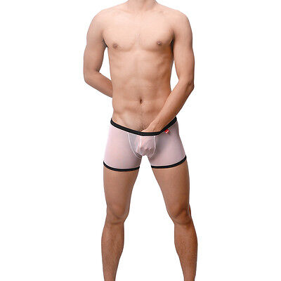Boxer Blanc taille M  Ref S17  Uzhot by neofan transparent sheer sexy