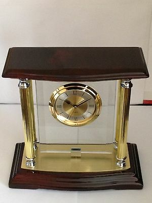 Large Two Tone Desk or Mantle/Shelf Clock, Engraved Free, New In Box