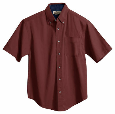 1925307923a Tri-Mountain Men s Button Down Collar Short Sleeve Soft Twill Dress Shirt.  788