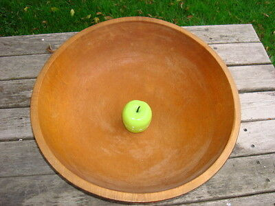 Wood Bowl Huge 17 1/8'' x 16 3/4'' Out Of Round Lathe Turned Maple Wood Bowl