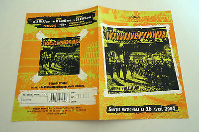 UNCOMMONMENFROMMARS Noise Pollution French Promo Advert / Presskit Plan Média