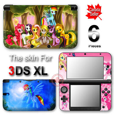 My Little Pony Friendship NEW SKIN VINYL STICKER DECAL COVER for Nintendo 3DS XL