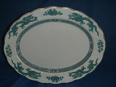 1921-1930 BOOTHS GREEN DRAGON SMALL OVAL PLATTER 22 x 28cmD