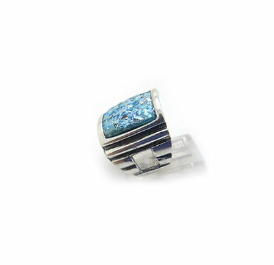Special 925 Sterling Silver Authentic Roman Glass Signet Ring Custom Size 5