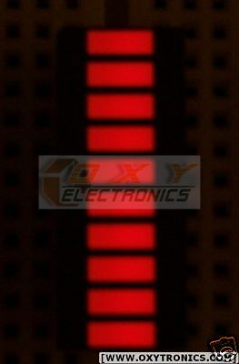 2 pcs x 10-Segments LED GAALAS BARGRAPH Array [Super Bright RED] - USA