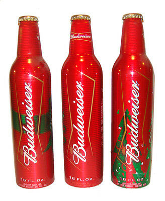BUD LIGHT Happy Holidays Set of 3 Aluminum Beer Limited Edition - EMPTY