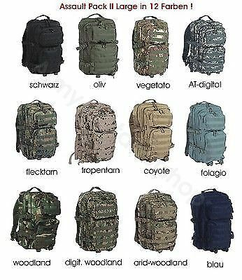 Profi Us Assault Pack 50 L Outdoor Rucksack Molle 12 Farben