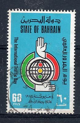 BAHRAIN = 1974 Int. Traffic Day. SG 204. VERY FINE USED.