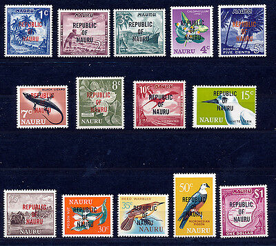 Nauru 1968 Definitives Sg80/93 Blocks Of 4 Mnh