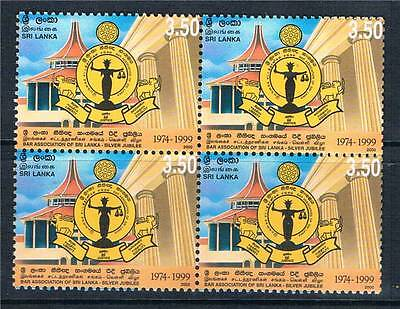 Sri Lanka 2000 Bar Association Block 4 SG 1494 MNH