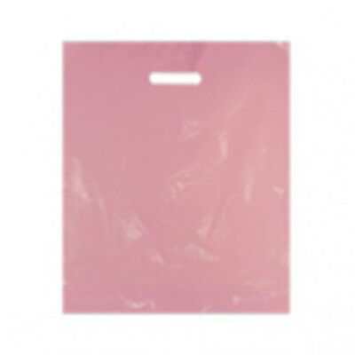 """Plastic Carrier Bags Pink 500's 15""""x18"""""""