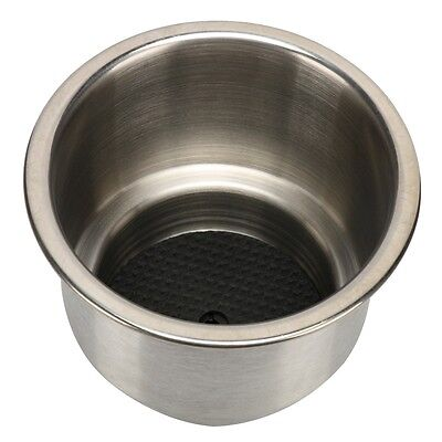9PCS Stainless Steel Cup Drink Holder with Drain Marine Boat Rv Camper-AM