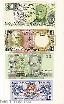 #1. Ten  Different World Banknotes
