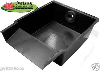 Pond waterfall spillway box pond free engine image for for Diy pond filter box