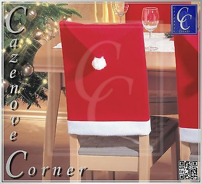 CHRISTMAS CHAIR COVERS - Father Christmas Hat chair - XMAS Chair cover