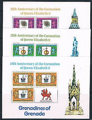 Gren.Grenada 1978 Anniv of Coronation P.12 Sheetlets SG 272/4 MNH