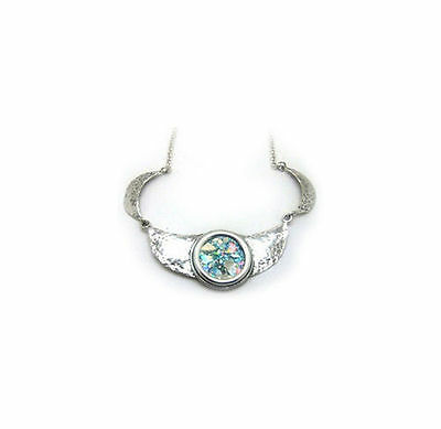 Beautiful Ladies Choker 925 Sterling Silver Ancient Roman Glass Necklace