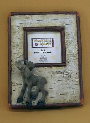 New Big Sky Carvers Mountain Moose With Birch And Twigs 3 X 3 Photo Frame