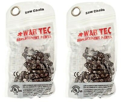 "WAR TEC 18"" Chainsaw Chain Pack Of 2 Fits HUSQVARNA 350 445E 450E"