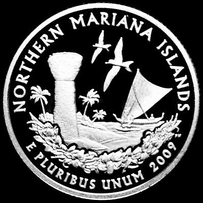2009 S Northern Mariana Islands Mint Silver Proof Quarter from Silver Proof Set