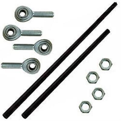 """Aluminum Shifter Rod Kit 24"""" and 16"""" with rod ends and nuts long IMCA sport mod"""