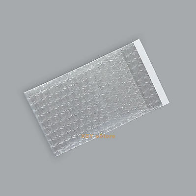 "100 Self Seal Clear Bubble Bags Small Packing Pouches 2.5"" x 3""_65 x 80+20mm"