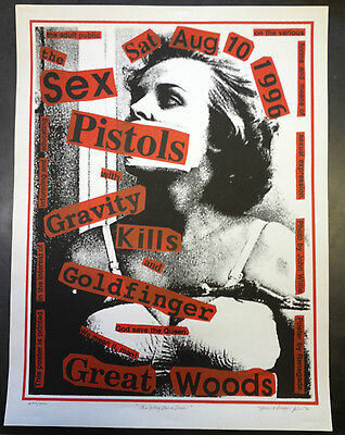 THE SEX PISTOLS GREAT WOODS 1996 CONCERT POSTER, Gravity kills, by Renegade