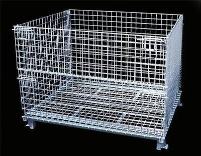 Wire Cage Steel Basket Wire Bins Industrial Bin Folding Wire Container